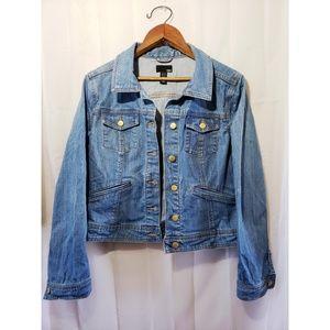 H&M Denim Jean Jacket Gold Buttons Size 12